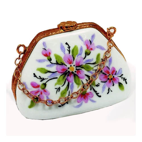 Artoria Purse with Chain Limoges Box