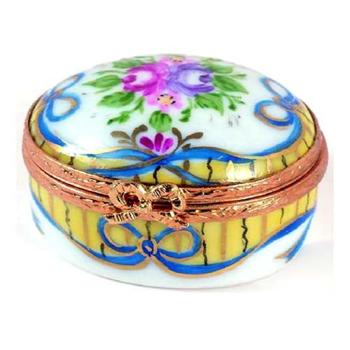 Artoria Small Oval: Recamier Jaune Limoges Box
