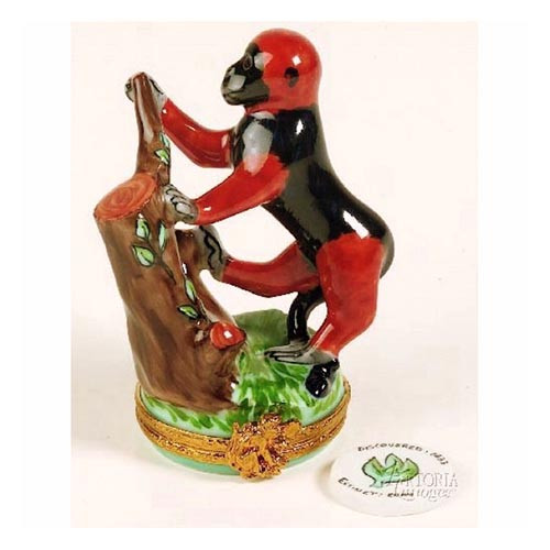 Artoria Red Colobus Monkey Limoges Box