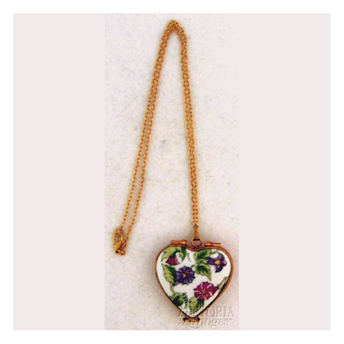 Artoria Heart Pendant: Morning Glory Limoges Box