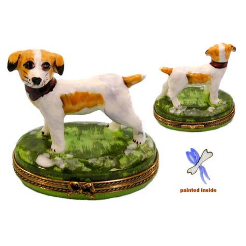 Chamart Jack Russell Dog Limoges Box