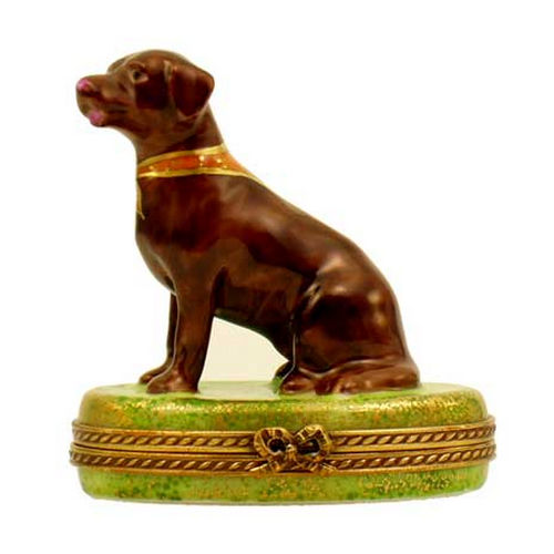 Chamart Chocolate Labrador Dog Limoges Box