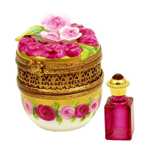 Chamart Roses and More Roses Perfume Limoges Box