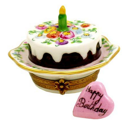Chamart Party Time Birthday Cake Limoges Box