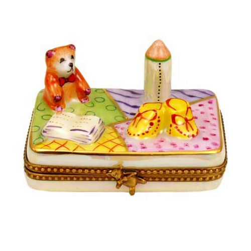Chamart New Baby Rectangle Limoges Box