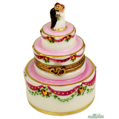 Rochard Ribbon Wedding Cake Limoges Box