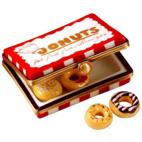 Rochard Donut Box with 6 Donuts Limoges Box