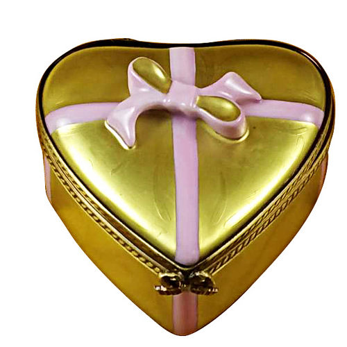 Rochard Gold Chocolates Candy Heart Limoges Box