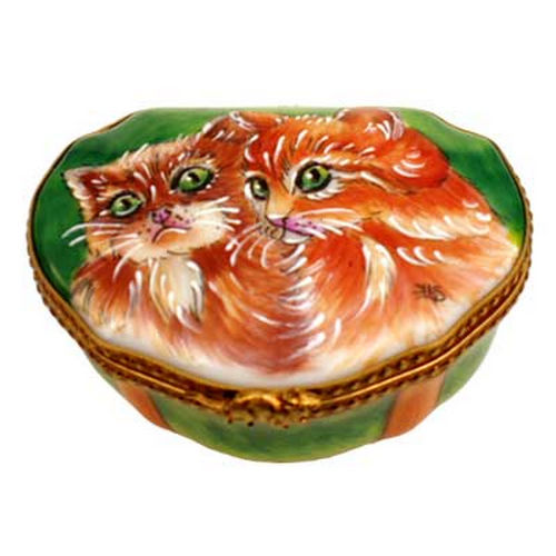 Rochard Studio Collection Two Cats Limoges Box