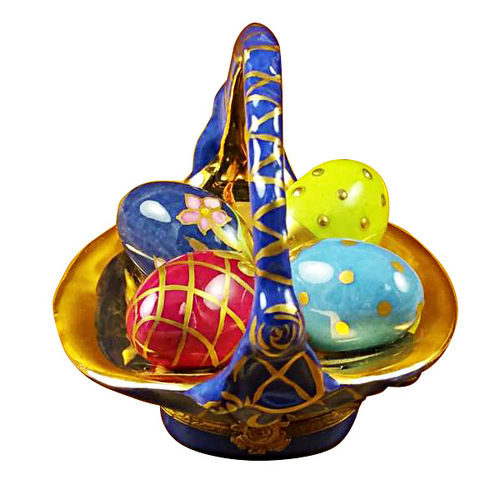 Rochard Easter Eggs in Basket Limoges Box