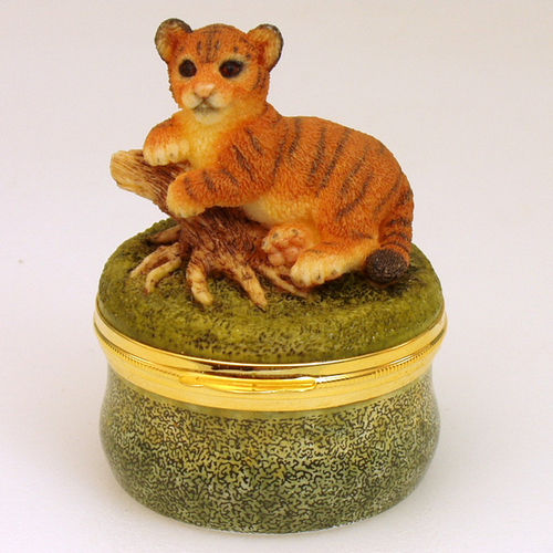 Rochard Tiger Baby Crummles  Limoges Box