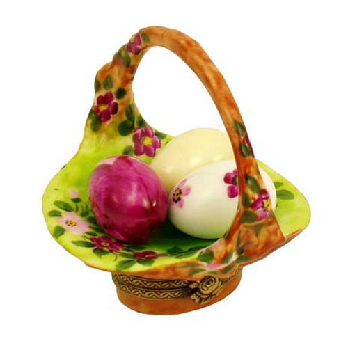 Rochard Basket of Eggs Floral Limoges Box