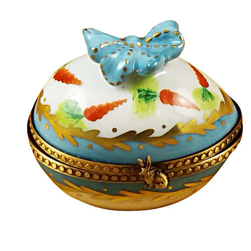 Rochard Egg with Bow and Bunny Limoges Box