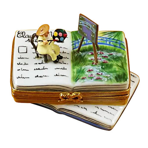 Rochard Monet Water Lily Book Limoges Box