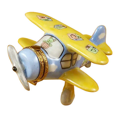 Rochard Airplane Baby Decor Limoges Box