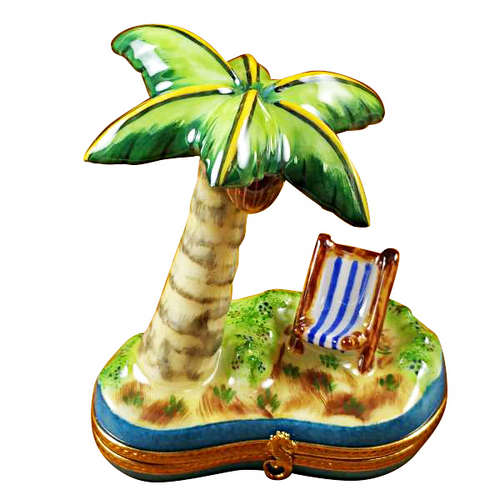 Rochard Palm Tree with Chair Limoges Box