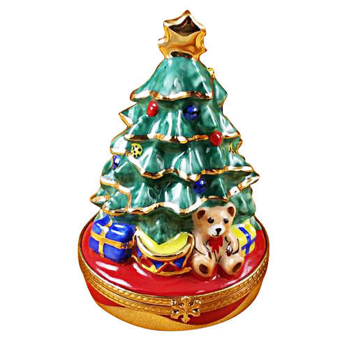 Rochard Christmas Tree with Gifts Limoges Box