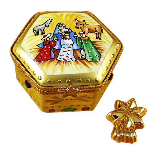 Rochard Octagon Nativity with Star Limoges Box