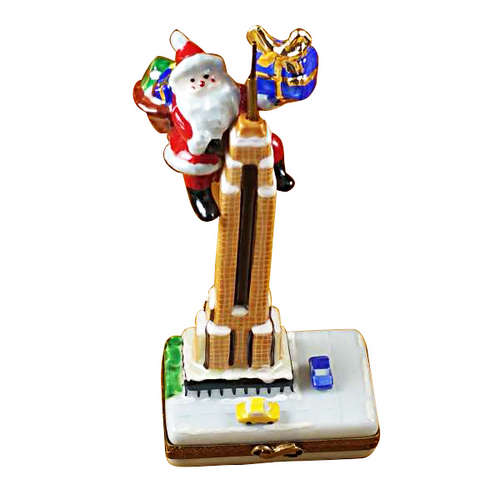 Rochard Santa on Empire State Building Limoges Box