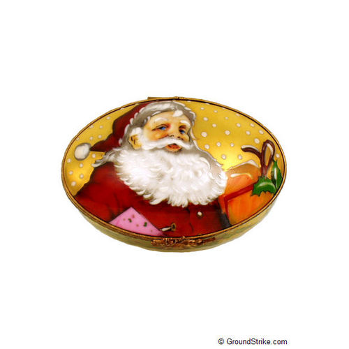 Rochard Studio Collection - Oval with Santa Claus Limoges Box