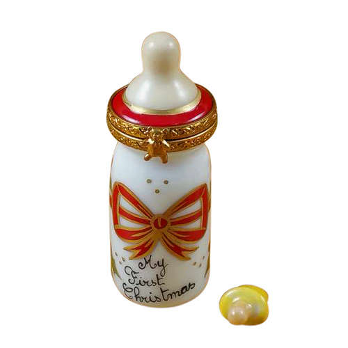Rochard Baby Bottle - My First Christmas Limoges Box