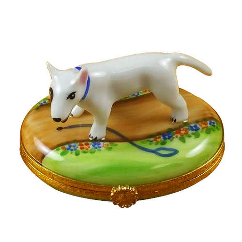 Rochard Bull Terrier Limoges Box