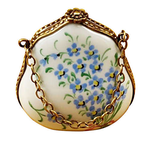 Rochard Forget Me Not Handbag Limoges Box