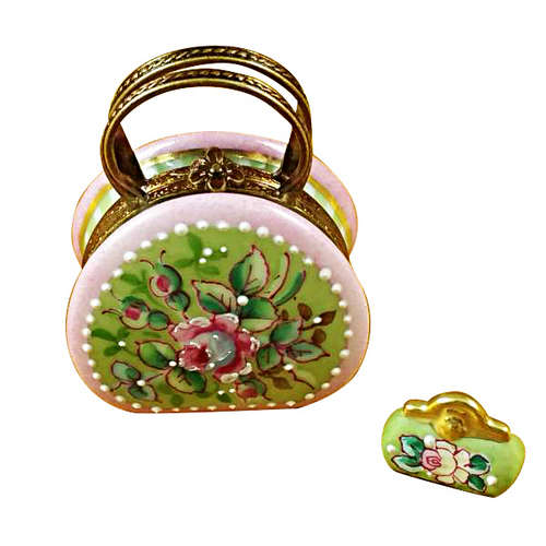 Rochard Round Purse with Coin Wallet Victoria Limoges Box