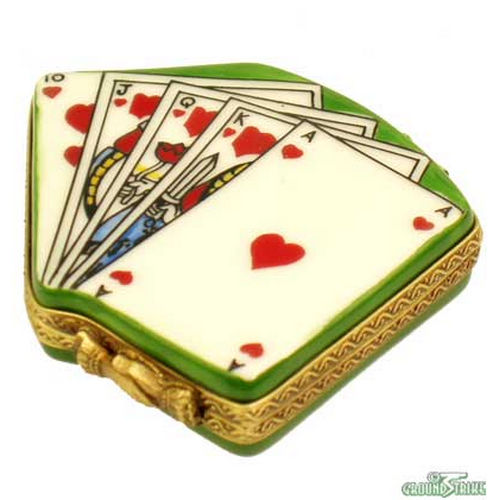 Rochard Deck of Cards Limoges Box