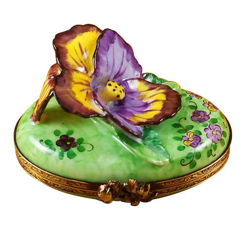 Rochard Pansy - Purple and Yellow Limoges Box