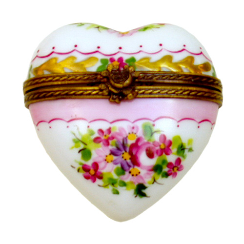 Rochard Heart Box Thousand Flowers Limoges Box