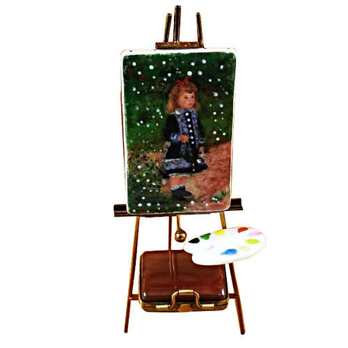 Rochard Easel with Paints Monet Limoges Box