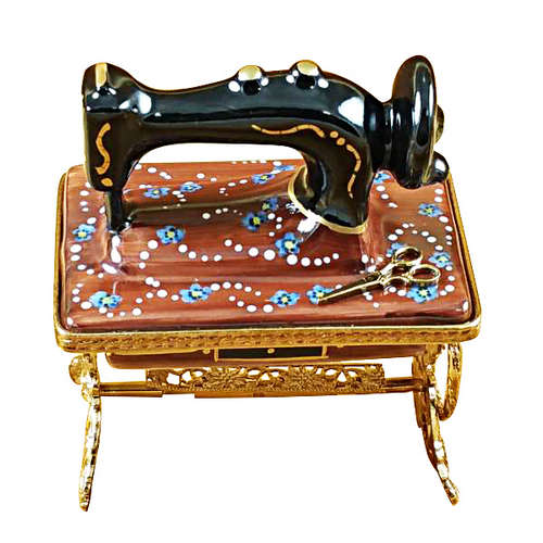 Rochard Sewing Machine with Stand Limoges Box