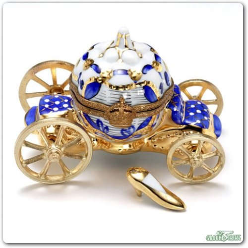 Rochard Cinderella Carriage - Blue Limoges Box