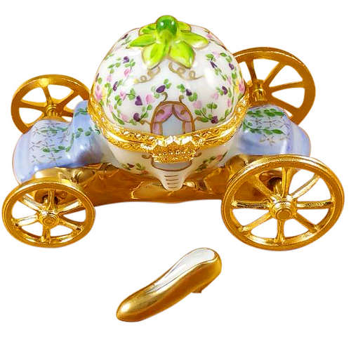 Rochard Cinderella Carriage with Shoe Limoges Box