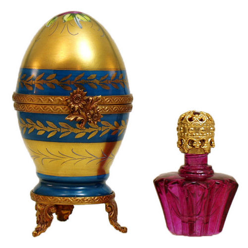 Rochard Egg with Perfume Bottle Limoges Box