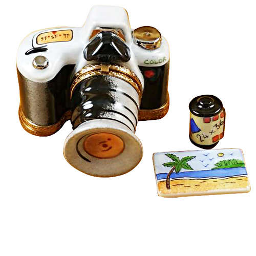 Rochard Camera with Film and Photo Limoges Box