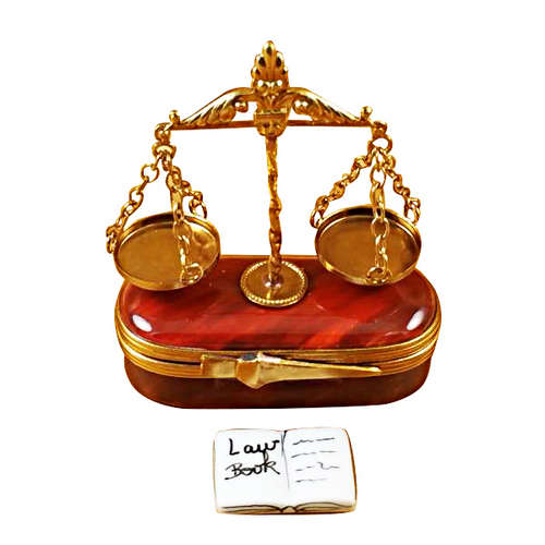 Rochard Scales of Justice Limoges Box