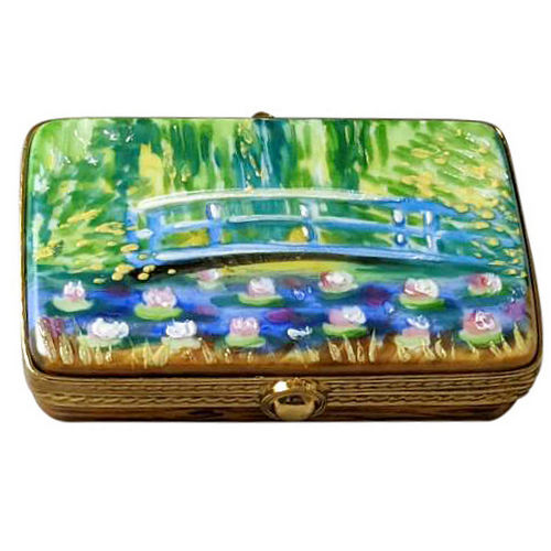 Rochard Monet.s Japanese Foot Bridge Paint Box Limoges Box