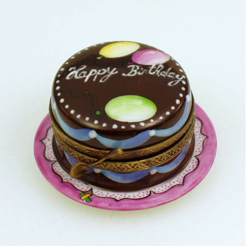 Rochard Chocolate Birthday Cake Limoges Box