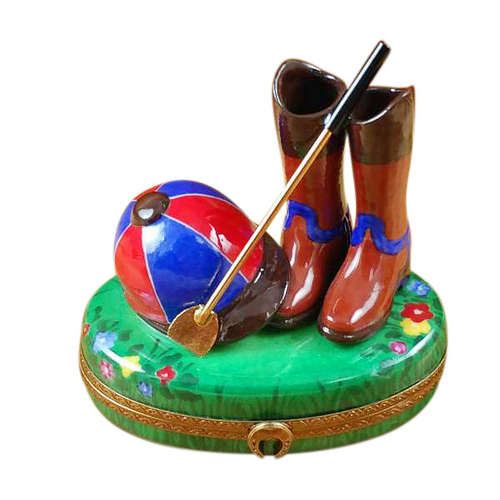 Rochard Riding Set with Hat and Boots Limoges Box
