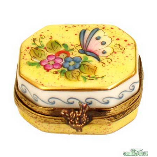 Rochard Butterfly Octagon Limoges Box