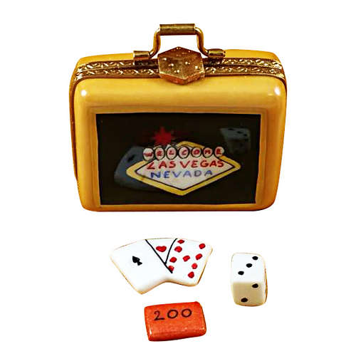 Rochard Suitcase Welcome to Las Vegas Limoges Box