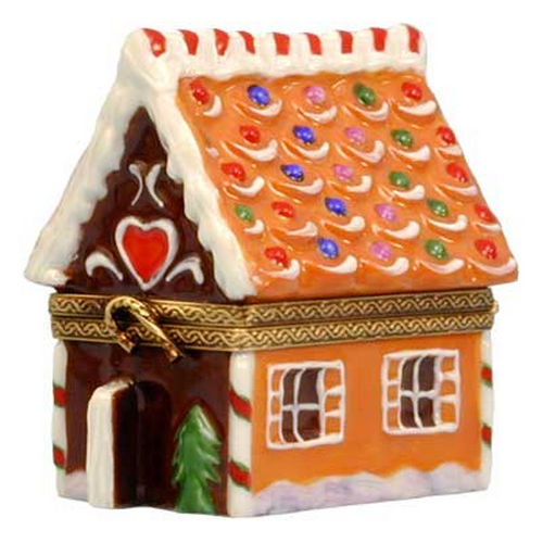 Rochard Christmas Gingerbread House Limoges Box