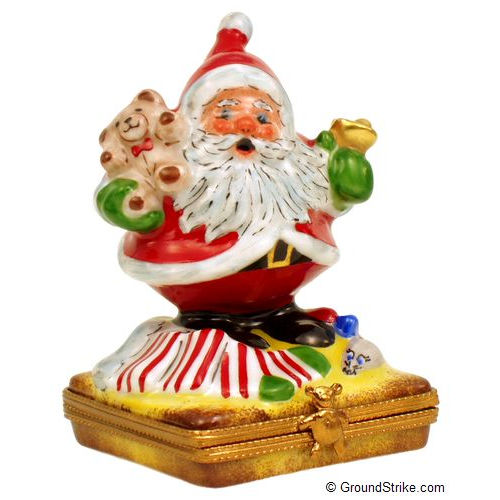 Rochard Santa with Bell Limoges Box