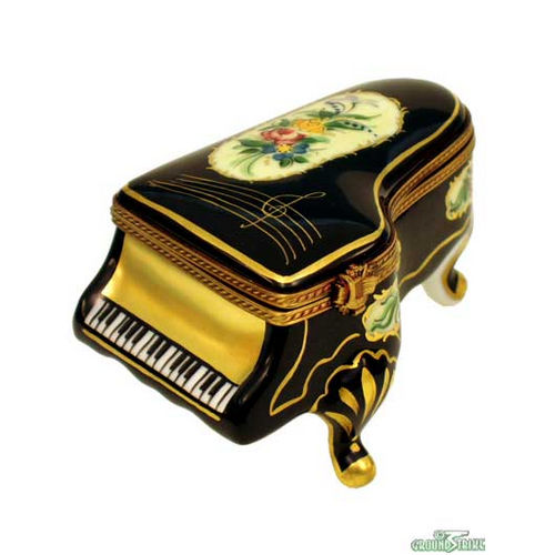 Rochard Grand Piano Floral Limoges Box