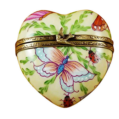 Rochard Butterfly Heart Limoges Box