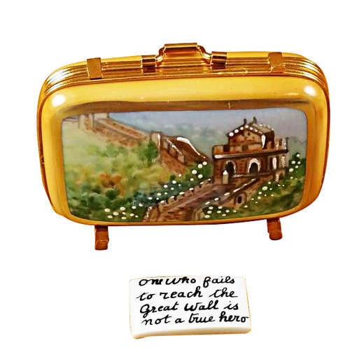 Rochard China Suitcase Limoges Box
