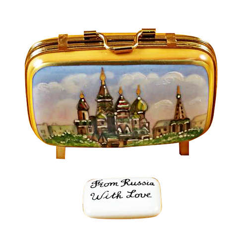 Rochard Russia Suitcase Limoges Box