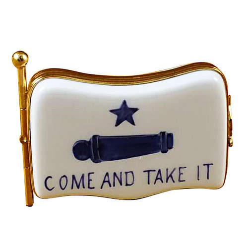 Rochard Come and Take It Flag Limoges Box